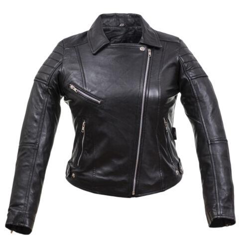 Damen lammnappa lederjacke Modern Tredinge Racing Talliert schnitt Ladies jacket