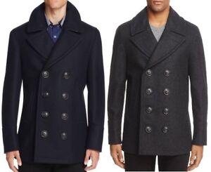 b2180450d Burberry Kirkham Double Breasted Peacoat Men s Wool Coat  1095