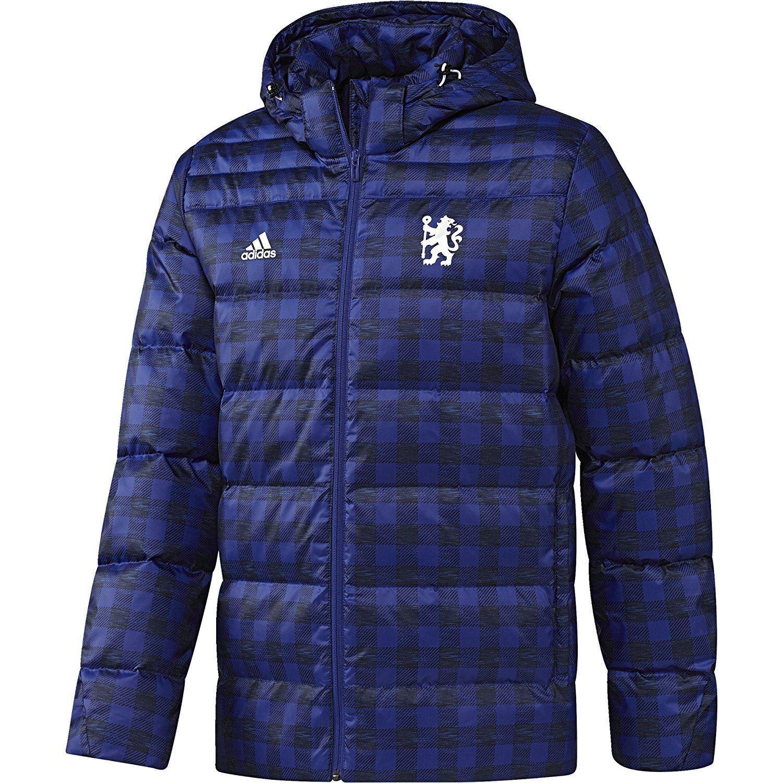 Chaqueta para hombre Adidas Chelsea Abajo Azul Fútbol Abrigo de EPL CFC