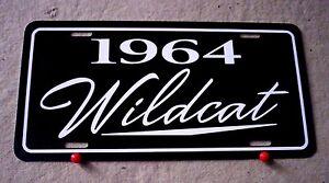 1964 Buick Wildcat Aluminum license plate car tag 64 Wild Cat