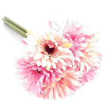 6 Stem Gerbera Bundle - Multicolour Artificial Flowers