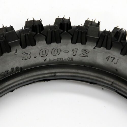 "12/"" 3.00-12 TIRE TYRE TUBE YAMAHA YZ50 YZ60 PW80 TTR90 TTR110 REAR 3.00x12 NEW"