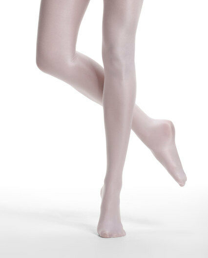 Danskin 1331 Women's B (Medium) Theatrical Pink Ultra Shimmery Footed Tights