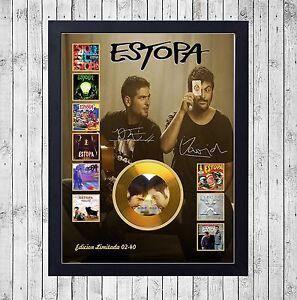 ESTOPA-DISCOGRAFIA-CUADRO-CON-GOLD-O-PLATINUM-CD-EDICION-LIMITADA-FRAMED