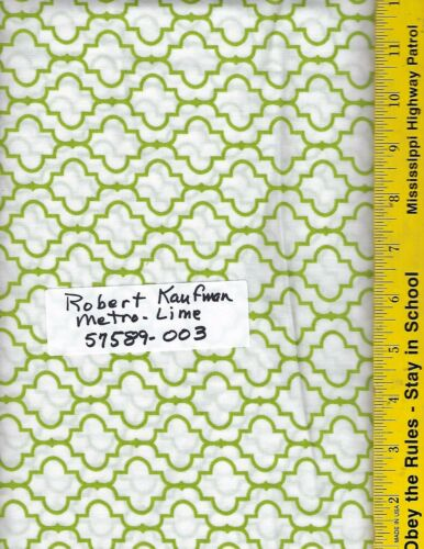 "100/% Cotton 108/"" Wide Quilt Backing BTY ROBERT KAUFMAN METRO LIME 57589-003"