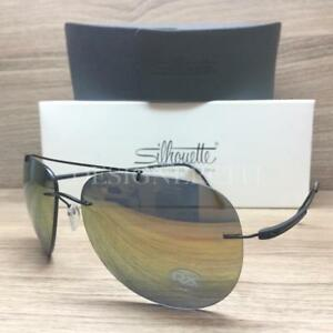 b28ac7be2c1a2 Image is loading Silhouette-Titan-8142-40-6249-Sunglasses-Matte-Black-