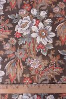 "American Antique c1860-70 Quilting Cotton Fabric Floral Paisley~1yd18""LX23""W"
