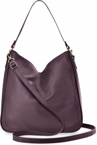 geräumige Damentasche Beuteltasche Shopper Schultertasche Zwei Riemen lila