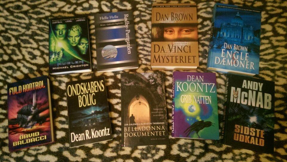 Blandet bøger, forskellige, genre: krimi og spænding