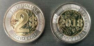 2001 Zimbabwe Coin  2 Dollars  PANGOLIN  super nice African animal coin