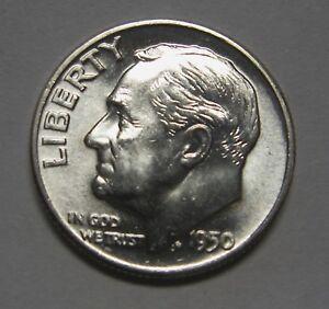 Gorgeous 1950-D Silver Roosevelt Dime Grading Choice Uncirculated   DUTCH
