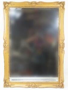 Vintage J.A. Olson Permaflect Beveled Mirror Ornate Gold Hollywood Regency