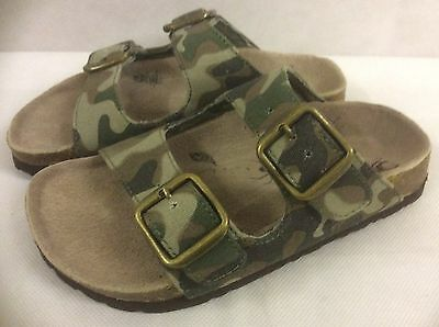 INFANT / TEENAGE UNISEX SLIP ON MULE SANDAL COMBAT COLOUR BUCKLES SIZE 10 & 6