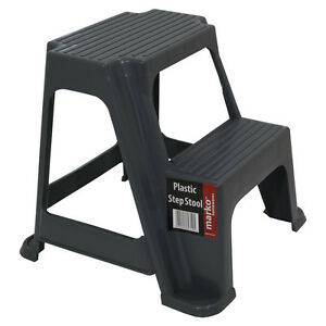 Image is loading Heavy-Duty-2-Step-Stool-Plastic-Step-Up-  sc 1 st  eBay & Heavy Duty 2 Step Stool Plastic Step Up Stools Kitchen Bathroom ... islam-shia.org