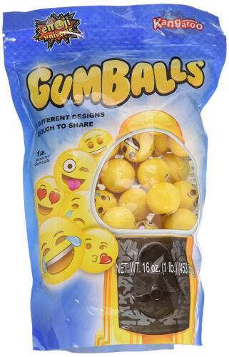 Bag of Emoji Gumball Refills 1 lb of Gumballs B.. Emoji Universe Free Shipping