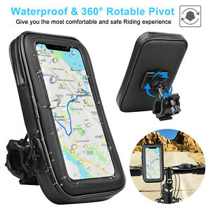 Universal-Motorcycle-Bicycle-Bike-Handlebar-Cell-Phone-GPS-Mount-Holder-Bag-Case