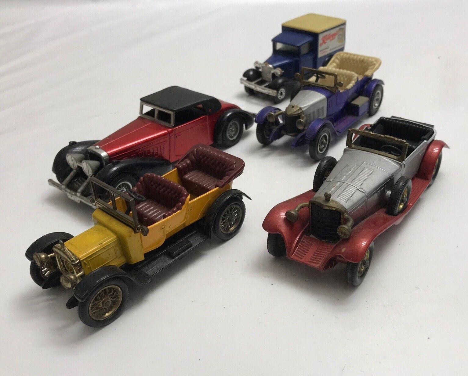 LOT N° 6 d'anciennes petites voitures Matchbox Lesney Etc Models Of Yesteryear