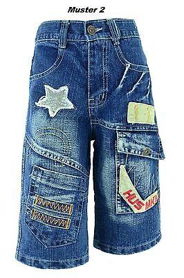 Jungen Kinder Jeans Shorts Bermuda 3/4 kurze Hose Sommer Jungs Gr 128 - 152