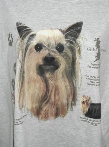 YORKSHIRE TERRIER HISTORY Lt Blue Tee Shirt New Without Tags SMALL To 4XL NWOTS