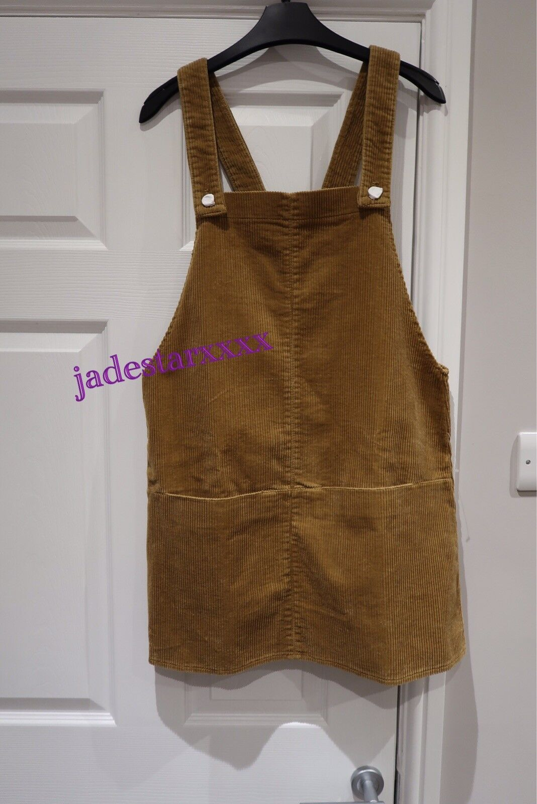 Camel Zara Corduroy Pinafore Dress Medium M 10 New