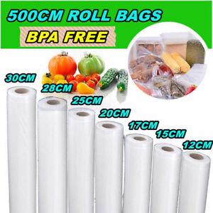 Food-Saver-Roll-Vacuum-Sealer-Bags-Kitchen-Reusable-Storage-Bags-Wrap-Multi-size