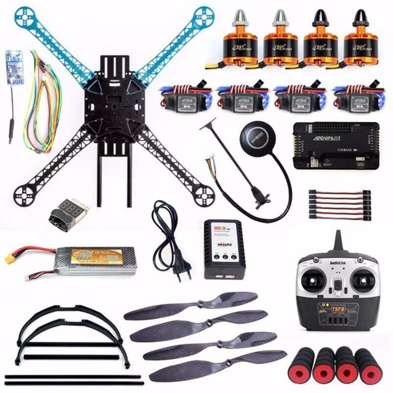 DIY RTF kit 2,4 GHz 4ch RC drone 500mm distancia entre ejes con APM 2,8 control de vuelo