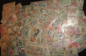 Awesome-worldwide-Stamps-lot-Collection-cards-0ff-Paper-Mint-used-Clean-extra