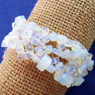 Beautiful Mixed Gemstone Chip Stretchy Bracelet 7 inch LX-100