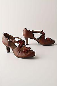 disponibile Anthropologie Bouquet of rosas Miss Albright 9 9.5 rosatte Heels Heels Heels Rare scarpe Pump  garanzia di qualità