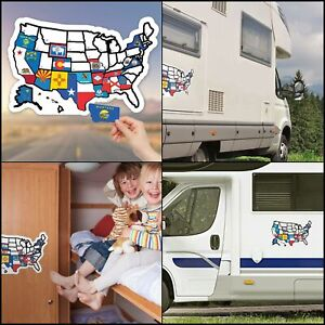 Road Trip Camping Van tent 7x6cm travel luggage label Decal sticker #2709