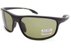 db1d1f147d6a5 Image is loading SERENGETI-PONZA-polarized-Sunglasses-Satin-Black-555nm- Green-