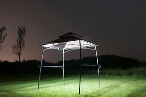 Bbq Grill Gazebo Barbecue Canopy Outdoor Metal Tent 2 Tier