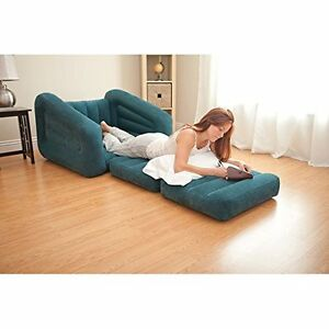 Inflatable Pull Out Chair Bed Dorm Sofa Sleeper Mattress Air Queen Couch BeanBag