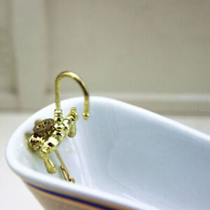 1-12-Dollhouse-mini-alloy-bathtub-faucet-simulation-water-tap-model-toys-wv