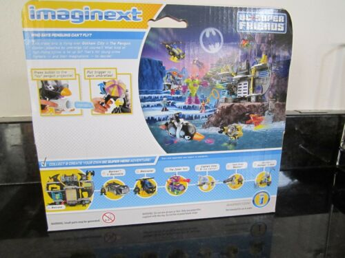 Imaginext DC Super Friends Penguin Copter 2015 Helicopter Umbrella NEW icy bomb