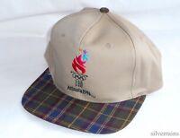1996 Olympics Vintage Hat 90's Strapback Cap Allover Print Atlanta Sports Usa