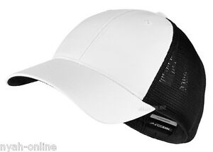 8fbe009c NEW Nike MESH BASEBALL CAP *BLACK* PLAIN FLEXFIT GOLF SWOOSH FITTED ...