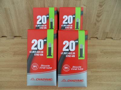 """20x2.30 2.40 2.50 Bicycle Bike Inner tubes for BMX Fat 20/"""" Tube Lot of Six 6"""