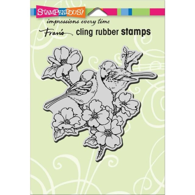 """Stampendous Cling Rubber Stamp - """"Dogwood Birds"""""""