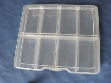 Transparente compartimiento de la pesca, joyería, herramienta de almacenamiento de plástico contenedor Caja