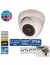 HD-CVI /TVI/ AHD/ANALOG  2.4MP Motorized Zoom Auto Focus 2.8-12mm Dome Camera