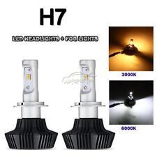 Cree H7 500W LED Headlights kit & Fog Lamp Conversion Kit High Power 6500K/3000k