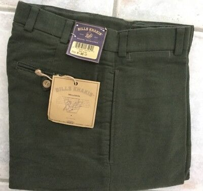 BRAND NEW-Bills khakis M1-CCC Size 31 PLain CHAMOIS CLOTH RELAX FIT MSRP $165