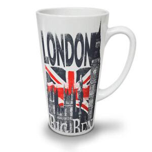London NEW White Tea Coffee Latte Mug 12 17 oz   Wellcoda