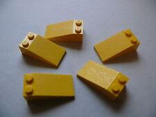 Lego 5 toit jaunes set 7259 6863 7047 7141 / 5 yellow slopes 18°