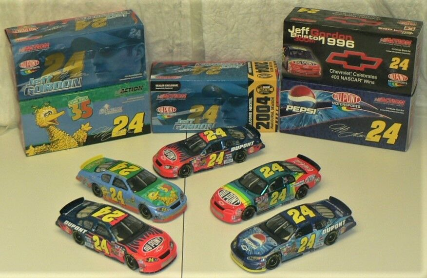 Nascar Jeff Gordon-Lote de 5 (2004) Limited Coleccionable coches por Action Racing