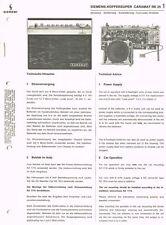 Siemens Caramat RK25 Kofferradio  Schaltplan Manual ca 1969 ORIGINAL