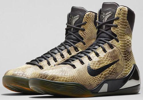 Nike Kobe 9 IX EXT Snakeskin Size 13. 716616-001. Black Tan. FTB Prelude