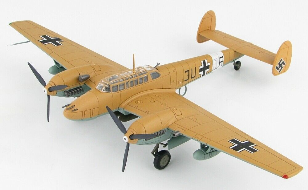 Hobby Master HA1815 Messerschmitt Bf-110E-7 Trop, 7. ZG 26, 3U+OR, Libya, 1942