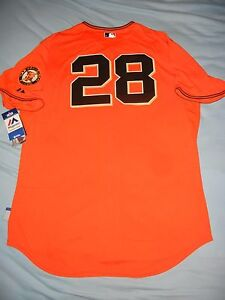 premium selection 4542d dc66e Details about AUTHENTIC Majestic BUSTER POSEY San Francisco Giants SF  Orange Jersey 52 2XL NWT